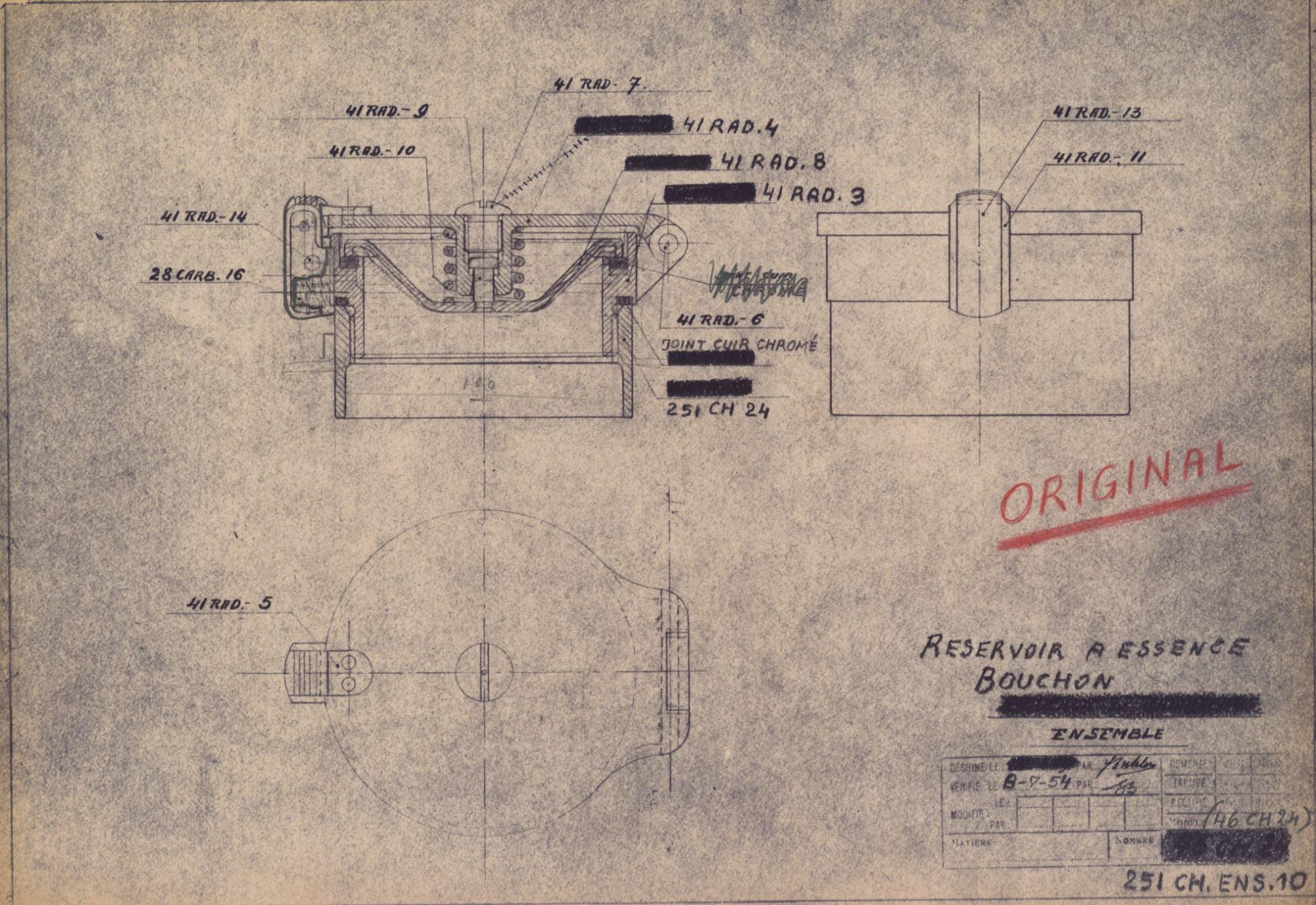 Tankdeckel Bugatti T251